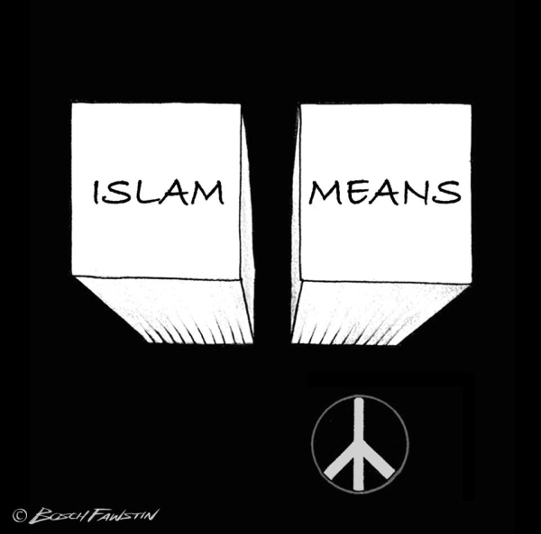 Islam means by Bosch Fawstin