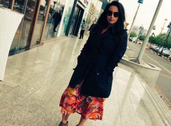 Saudi woman wears whore uniform