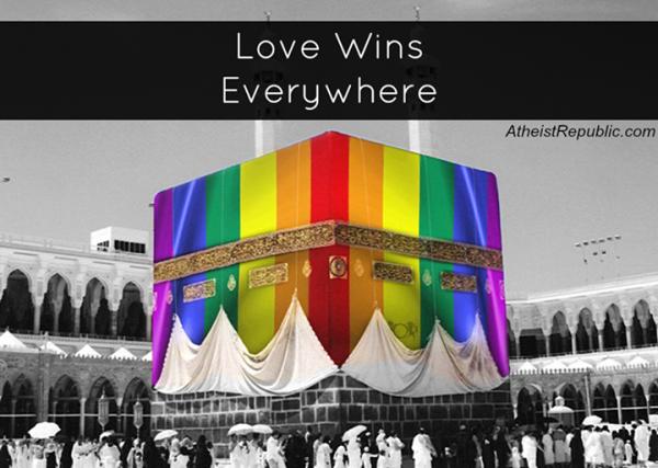 Kaaba - rainbow