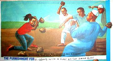 Stoning a Woman