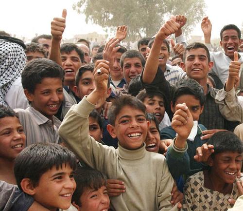 Smiling Iraqi Kids